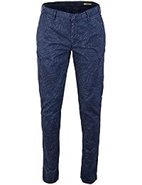 ALBERTO Slim Fit Hose SIX Dynamic Superfit Muster blau