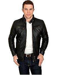 Trending Villa Mens Leather Jacket Black