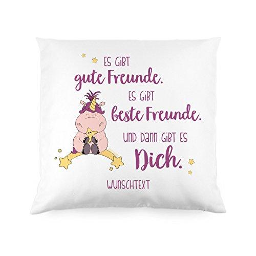Knuddelhorn® Einhorn Kissen Schnuppe - Es gibt Gute Freunde. Es gibt Beste Freunde. Und dann gibt es Dich.mit Gratis WIDMUNG