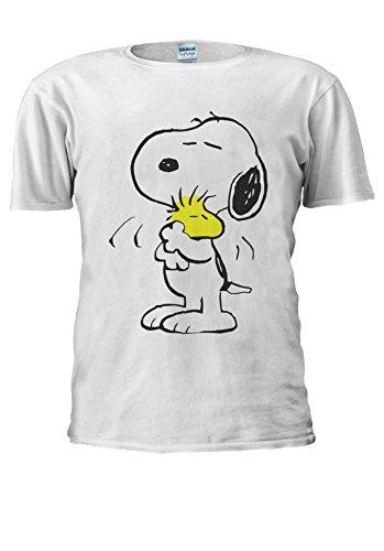 Mens Peanut (Snoopy PEANUTS Cartoon Happy Cute Men Women Unisex Top T Shirt-M)