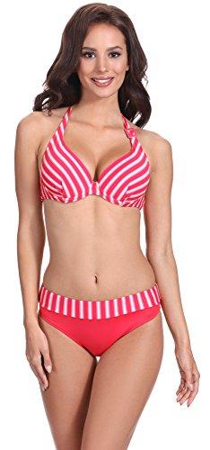 Feba Damen Push Up Bikini Set Sonia (Muster-401, Cup 75 D / Unterteil 38)