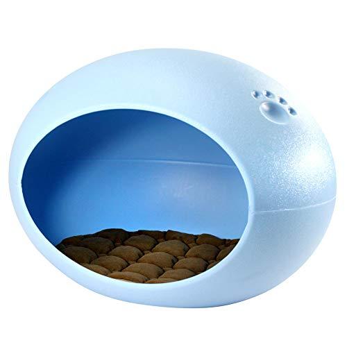 YANGYONGLI Pet Nest Haustier Nest Haustier Schlafsack KatzenhöHle Pet Nest Oval-Ei-Mode SchöNe Vier Jahreszeiten,Blue