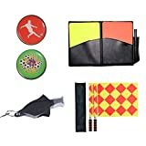 Bandiere Firelong calcio arbitro Whistle monete e carte – 4 in 1 set