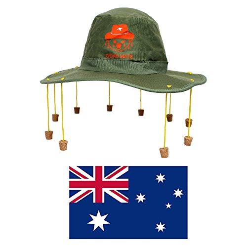 AUSTRALIA Día Disfraz Set Grande Australiano Bandera + Australiano Corcho Sombrero Con KOALA estampado + hinchable cocodrilo Oz Disfraz AUSSIE Dundee