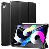 ZtotopCase Case Fit iPad Air 4 Generatie 2020 Case Nieuwe iPad 10.9 2020 - [Ondersteuning iPencil 2 Opladen] Slim Smart Shell Stand Cover met doorschijnende Frosted Back Protector, Zwart