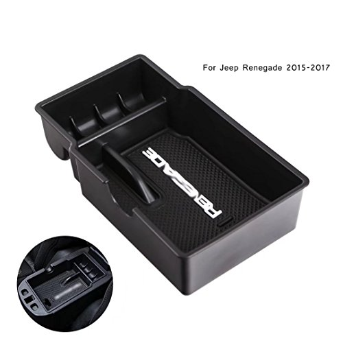 Preisvergleich Produktbild WHDZ Car Center Konsole Handschuh Box Armlehne Box Portable Aufbewahrungsbox Container für Jeep Renegade 2015 2016 2017