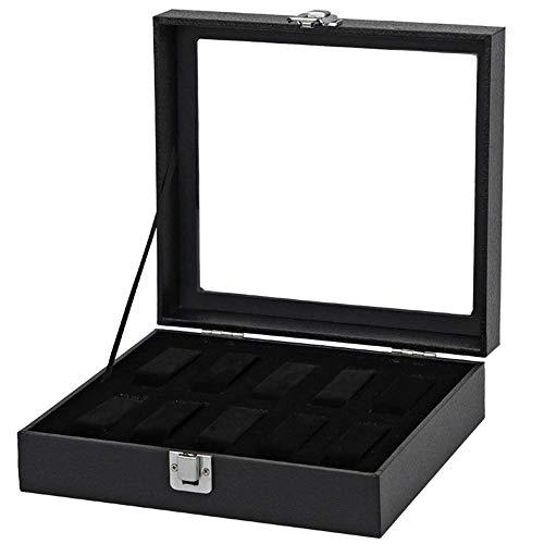 Ygva chlyuanla scatola scatola portagioie per orologio in pelle di alta qualità con scatola porta orologi 10 nera organizzatore di gioielli