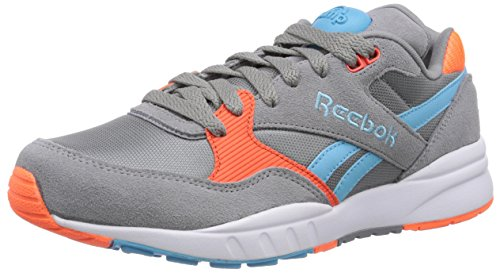 Reebok Pump Infinity Runner, Unisex-Erwachsene Sneakers, Grau (Flat Grey/Solar Orange/Neon Blue/White), 44.5 EU (10 Erwachsene UK)