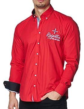 Pontto - Camisa casual - con botones - para hombre