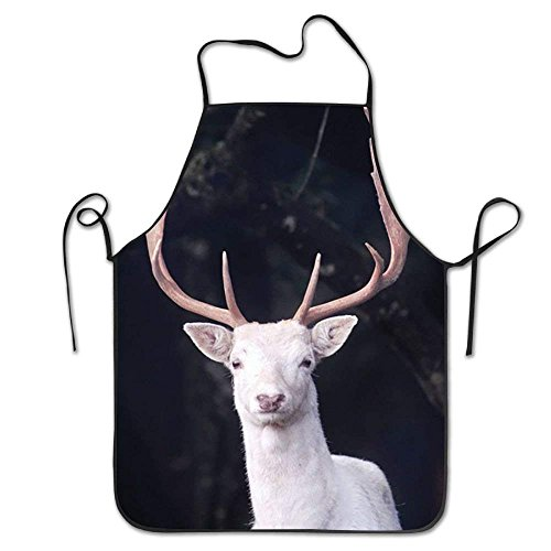 Beautiful White Moose Moz Elk Personalized Aprons for Adult Kids Gifts Kitchen Decorations -