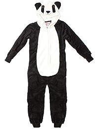 LA Vision International Niña Panda Novedad Cremallera Lujo Polar Pijama de Bebé Mono con Capucha Mono Tallas Desde 7 a 13 Años