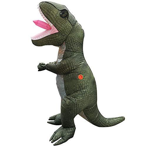 Rex T Hunde Kostüm - Dinosaurier Kostüm Aufblasbare Halloween Geburtstagsparty Liefert Kostüm Ball Kostüm, Rollenspiel Kostüm, Spielzeug Overall, Geeignet für Höhe 150-190 cm,Tyrannosaurusrex