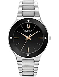 Bulova Mens Analogue Quartz Watch with Stainless Steel Strap 9.6E+118