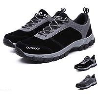 gracosy Hombres Zapatos de Senderismo Al Aire Libre Zapatos Bajos Antideslizante Botas de Nieve Zapatillas de