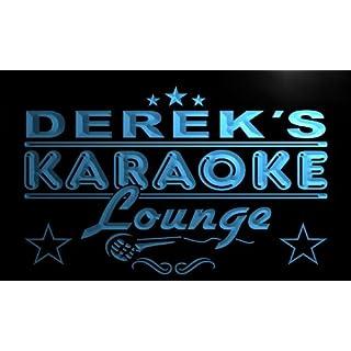 pk160-b Derek's Karaoke Lounge Bar Beer Club Neon Light Sign