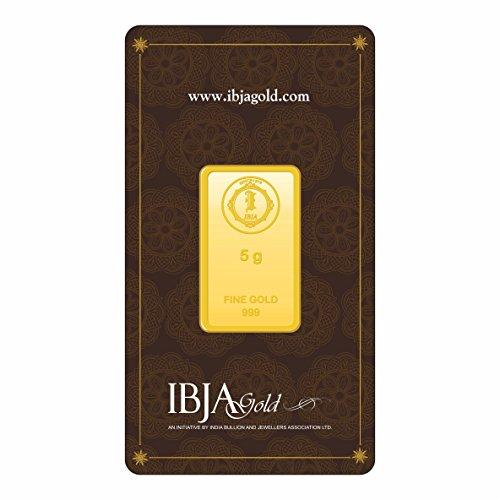 IBJA Gold 5 Gm, 24K (999) Yellow Gold Precious Bar
