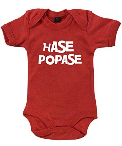 ::: HASE POPASE ::: Babybody Rot/weisser Aufdruck, Größe 3/6 (Kostüm Bunny Oster Baby)