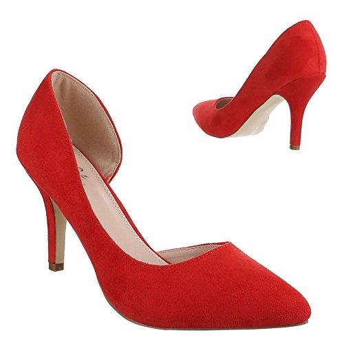 Ital-Design - Scarpe con Tacco Donna Rosso (rosso)