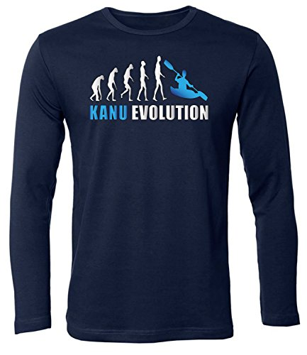 Kanu EVOLUTION 5907 Herren Longsleeve (HL-N-Weiss-Blau) Gr. S