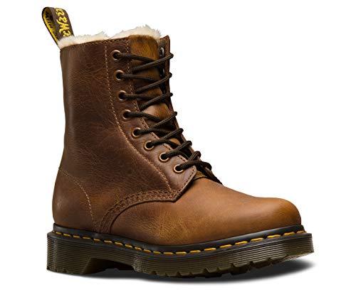Dr. Martens Womens 1460 Serena Originals Core Ben Leather Faux Fur Boots - Butterscotch Orleans - 9
