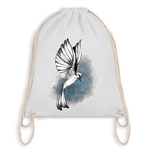 Vögel - Vogel Aquarelle Zeichnung - Unisize - Weiß - WM110 - Turnbeutel I Gym Bag