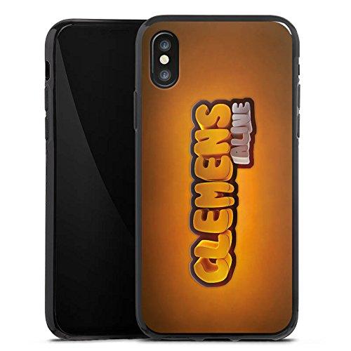 Apple iPhone X Silikon Hülle Case Schutzhülle Clemens Alive Fanartikel Merchandise Youtuber Silikon Case schwarz
