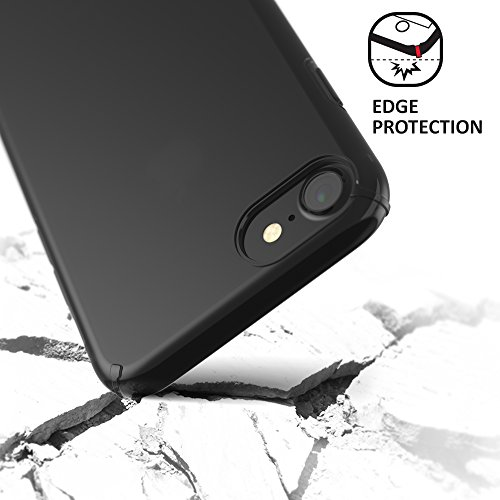 CREED iPhone 7 Black Ghost GLASS EDITION (inkl. iPhone 7 Panzerglas / iPhone 7 Panzerfolie) Schutzhülle für iPhone 7 Hülle - Schutzhuelle, iPhone 7, iPhone 7 Case - flexibles Smartphone-Case – inkl. m Ghost - Black