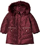 NAME IT Baby - Mädchen Jacke NMFMELA DOWN Jacket Camp, Rot Detail: with Port Royale Color Fur, 92