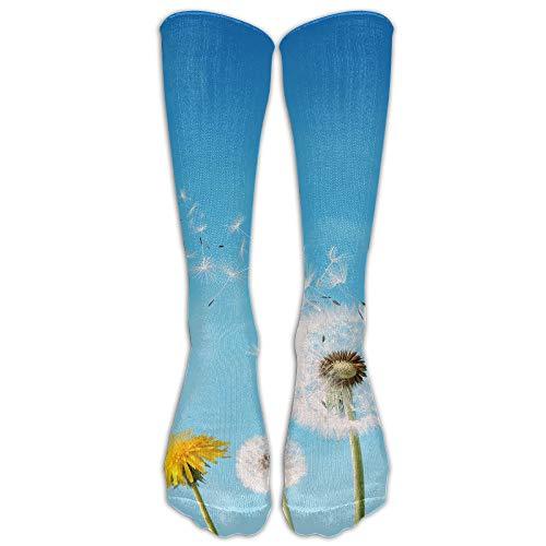 hutaz Wish Or Weed Dandelion Women & Men Knee High Socks Baseball Athletic Tube Long Stockings -