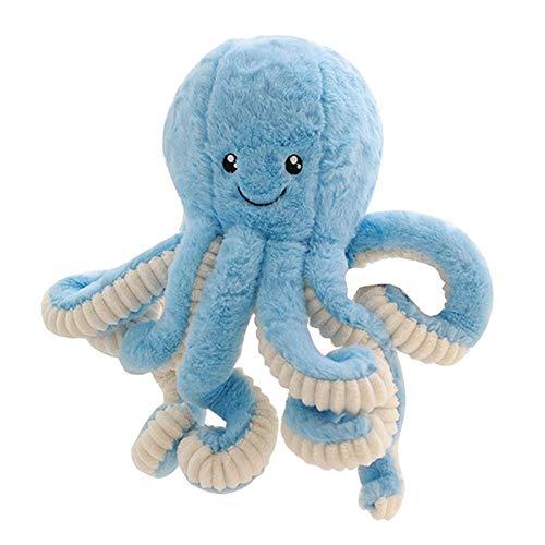 Creamon Lovely Cartoon Octopus Plüsch Stofftier, Lovely Cartoon Octopus Plüsch Stofftier Kids Soft Animal Wohnaccessoires Kindergeschenke blau