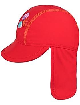 Landora®: UV-Schutz 50+ Kappe / Mütze in blau, rot, tuerkis oder violett - Baby-Badebekleidung mit Oeko-Tex® Standard...