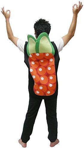 Sazac Kostüm Lachs Ikura Sushi Party Kostüm (Sushi Kostüm Halloween)