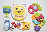 #5: Littlegrin LittleSteps Baby Rattles and Teethers 8 Piece Set