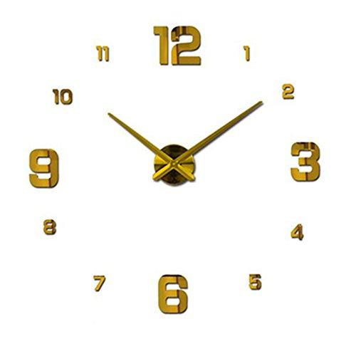 SX-ZZJ $ Wanduhren Wanddekoration Spiegel Wanduhr Modem Design Große dekorative Uhren Wanduhr einzigartiges Geschenk Uhren & Wecker (Farbe : Gold, größe : 80-120cm)