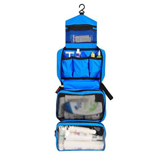Stockage Cosmétique Sac Pliant Imperméable De Grande Capacité Portable Multifonctionnel Simple Lavage De Voyage Universel 5 Couleur 24.5 * 8 * 16cm MUMUJIN (Couleur : Bleu)