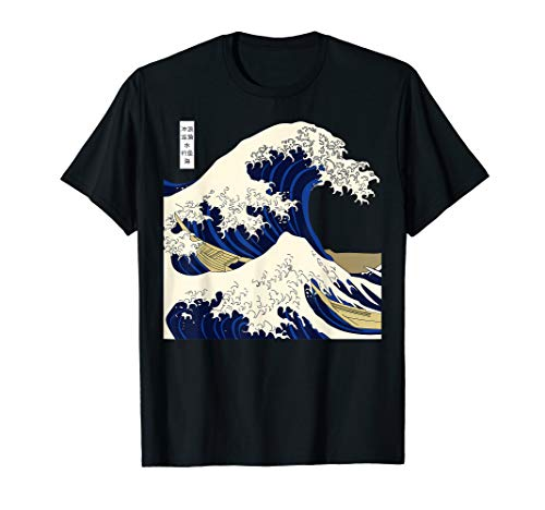 Kanagawa The Great Wave Japanische Kunst Wellen T-Shirt T-Shirt