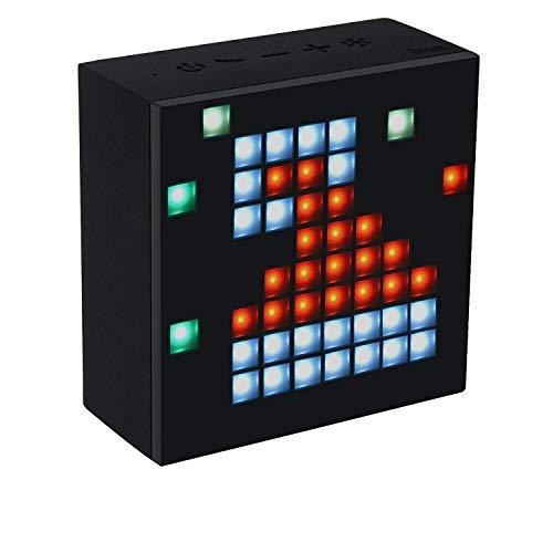 Divoom Aurabox 4.0 Altoparlante Portatile Bluetooth con Funzione Sveglia, Nero/Antracite
