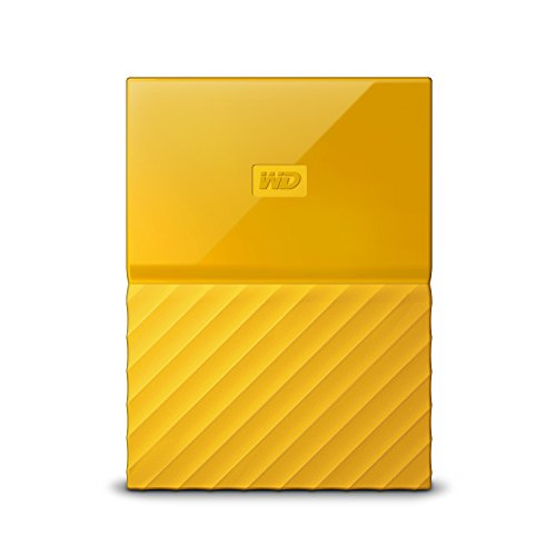 WD My Passport 4TB - Disco duro portátil y software de copia de seguridad automática para PC, Xbox One y PlayStation 4 - amarillo