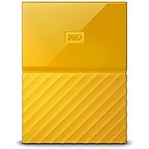 WD My Passport 2TB - Disco duro portátil y software de copia de seguridad automática para PC, Xbox One y PlayStation 4 - amarillo