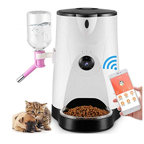 ZY Haustierhundekatzenfutterschüsselhundefutter-Fütterungsmaschineüberwachungstimer-Zufuhrkamera-Handy Drahtlose WiFi-Intelligente Fernbedienung
