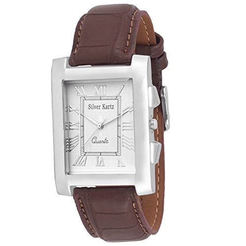Silver Kartz Original Roman Style Analog Watch for Men & Boys (wtm-057)