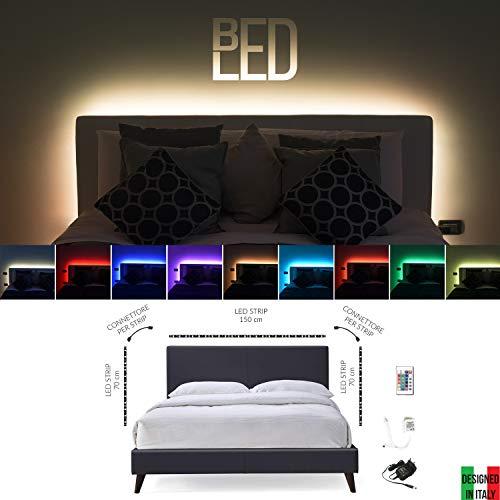 BedLed - Kit de tira LED RGB de 60 ledes/metro para cabecero...