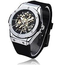 Timelyo - Reloj de pulsera automático para hombre, deportivo, estructura de acero, vista