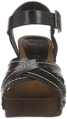 Esprit Cheri Sandal, Sabots femme Noir - Schwarz (001 black)
