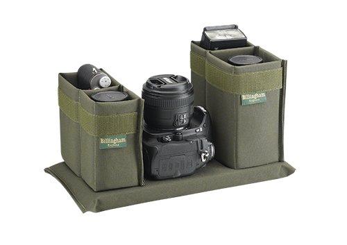 Billingham 225 Black Canvas Camera Bag with Black Leather Trim