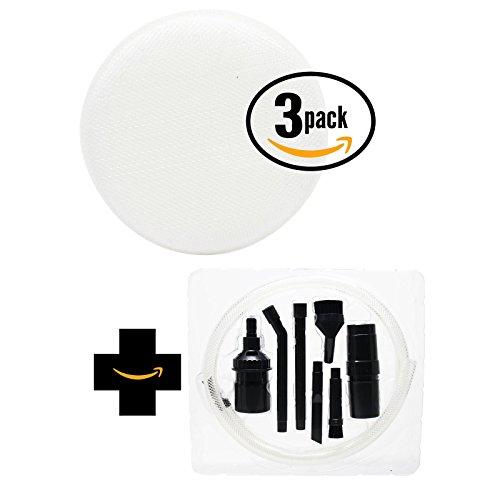 3 de rechange Hoover Linx Stick Vac bh50010 W Filtre éponge en mousse avec 7 Micro Kit de fixation - Aspirateur Compatible Hoover 410044001, Linx Filtre en mousse