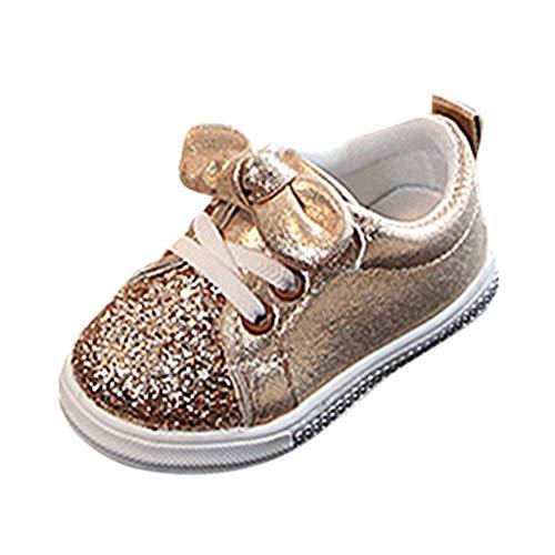 LILIHOT Kinder Baby Turnschuhe Mädchen Jungen Bling Pailletten Bowknot Crystal Run Sport Schuhe Outdoors Straßenlaufschuhe Sneaker Laufschuhe Air Sportschuhe Turnschuhe Running Fitness Crystal Laurel