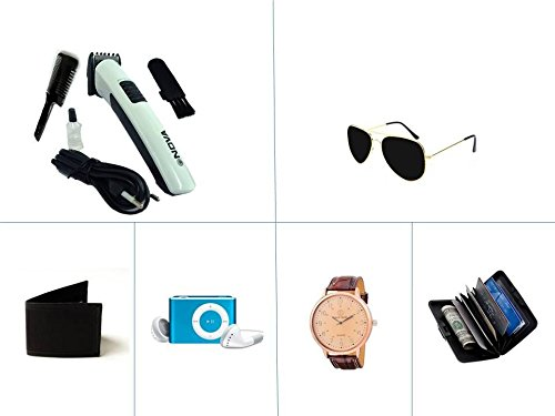 Nova Combo Of 6 Trimmer With Fashion Accessories And Mp3 Player