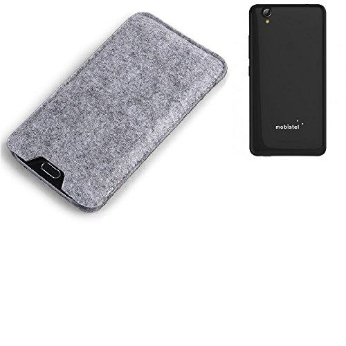 K-S-Trade Filz Schutz Hülle für Mobistel Cynus E7 Schutzhülle Filztasche Filz Tasche Case Sleeve Handyhülle Filzhülle grau