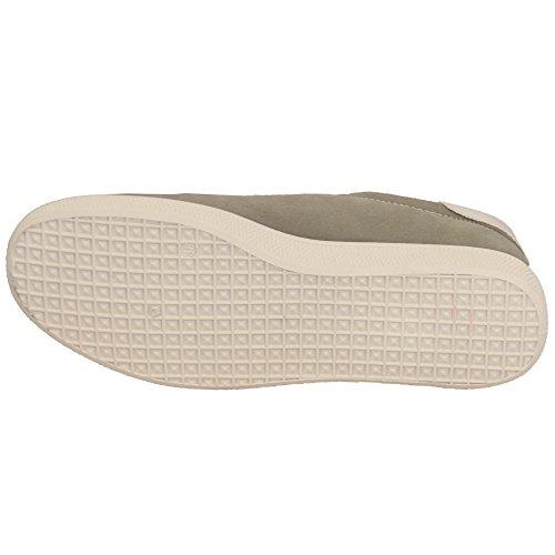 Pour Femmes Daim Look Baskets Femmes Lacet Plat Sport Chaussures De Tennis Chaussures Mode Neuve Gris - 16200